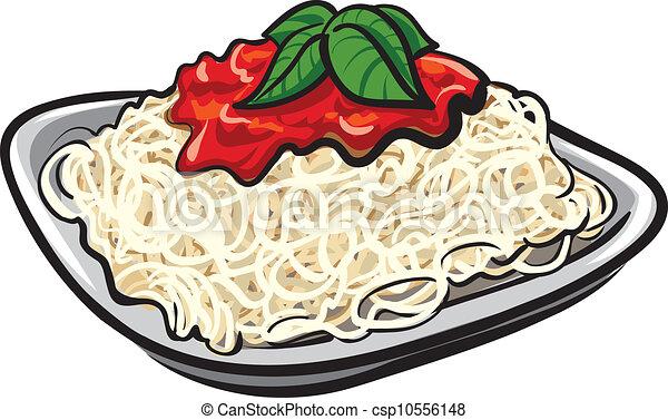 molho tomate, espaguete - csp10556148