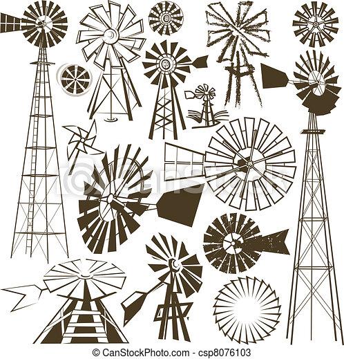 Una colección de molinos de viento - csp8076103