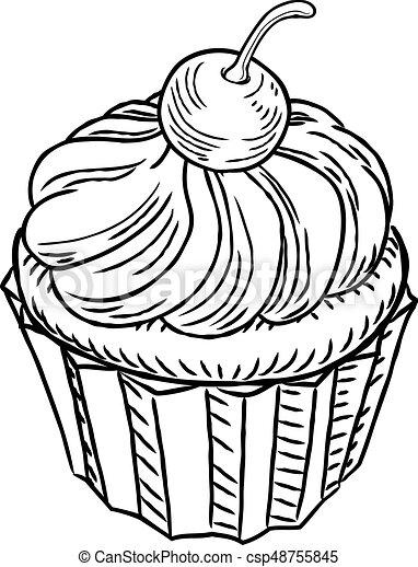 Muffin clásico estilo retro leñador - csp48755845