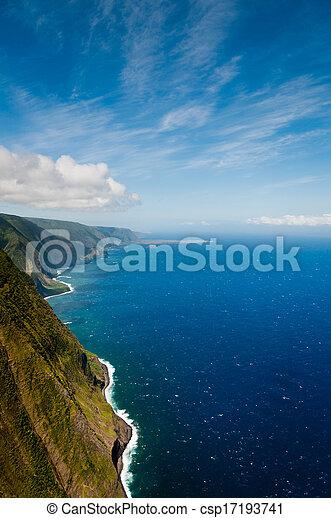 Molokai coastline - csp17193741
