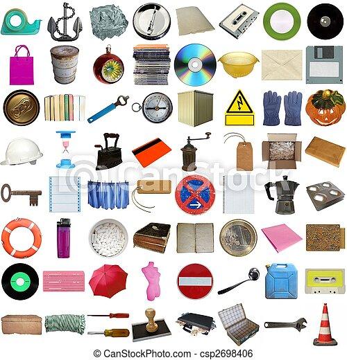 molti, oggetti, isolato - csp2698406