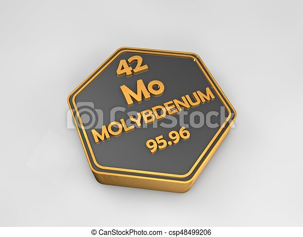 Molybdenum mo chemical element periodic table hexagonal stock molybdenum mo chemical element periodic table hexagonal shape 3d render csp48499206 urtaz Gallery