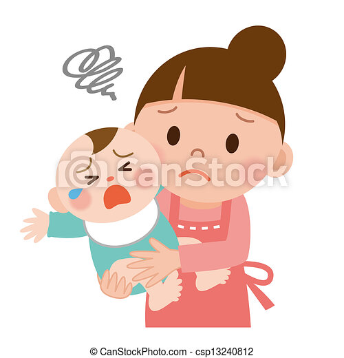 mom and baby mother trying to calm her crying baby rh canstockphoto com crying baby clip art photos crying baby images clip art