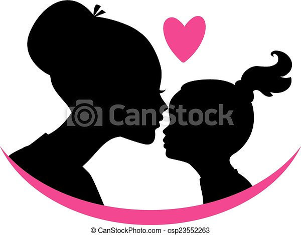 vector illustration of mom and daughter love clip art vector rh canstockphoto com