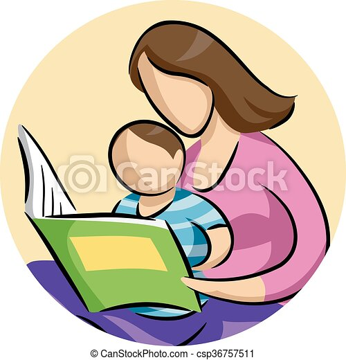mom child read book illustration of a mother reading a vector rh canstockphoto com clip art mom & dad clip art mom and babies