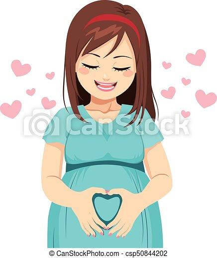 Mom Heart shape - csp50844202