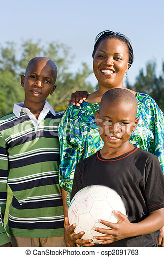 mom with sons - csp2091763