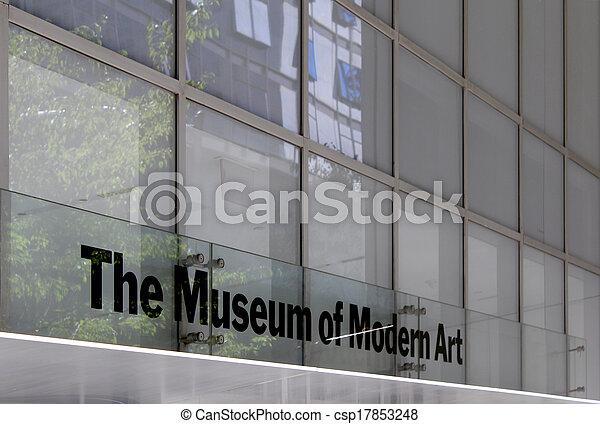 MoMA Museum of Modern Art, New York City - csp17853248