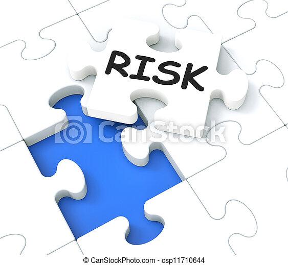 monétaire, puzzle, crise, projection, risque - csp11710644
