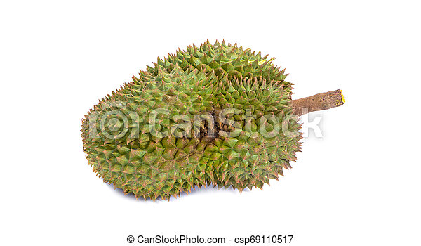 mon thong durian is fruit plate tropical durian and king of fruits durian on white background healthy durian fruit food isolated - csp69110517