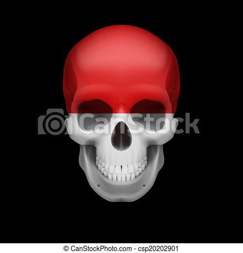 Monacan flag skull - csp20202901