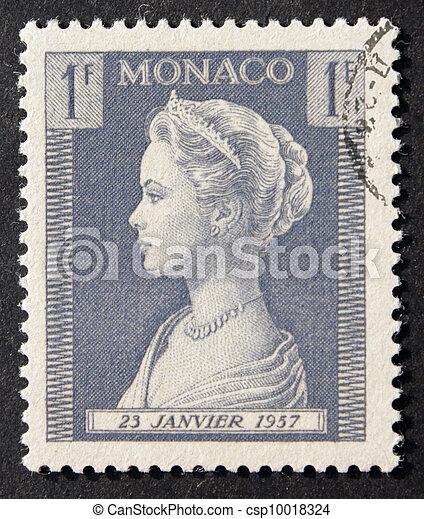 Monaco 1F Grace Kelly Stamp - csp10018324