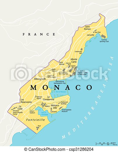 monaco karta Monaco political map. Monaco political map. city state in on the  monaco karta