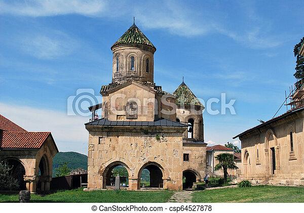 El antiguo monasterio gelati en Kutaisi, Georgia - csp64527878