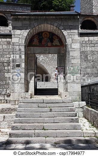 Monasterio Ortodoxo en Cetinje, Montenegro - csp17994977