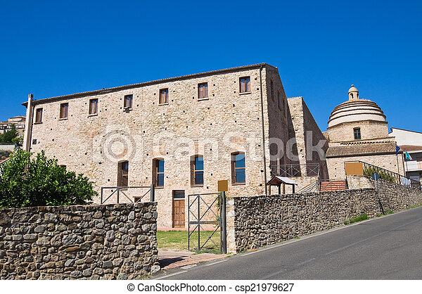 monastery., calabria., franciscan, italy., imperiale., rocca - csp21979627
