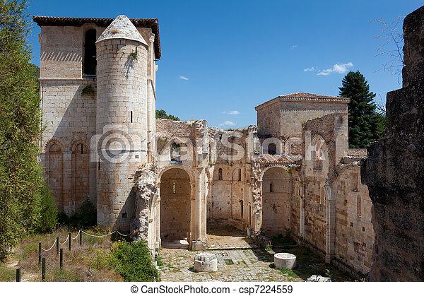 Monastery of San Pedro de Arlanza, Covarrubias, Burgos, Spain - csp7224559