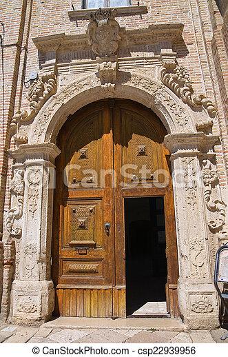 monastery., san, franciscan, italy., puglia., severo. - csp22939956