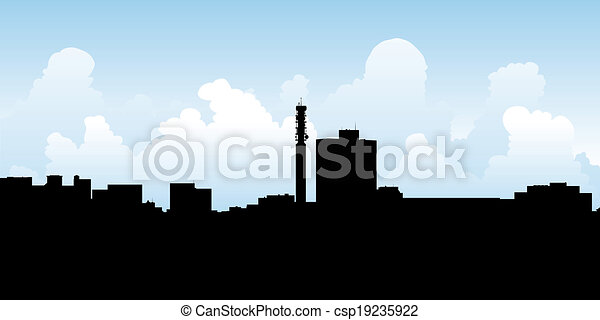 Moncton Skyline - csp19235922