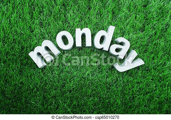 Monday made from concrete alphabet - csp65010270