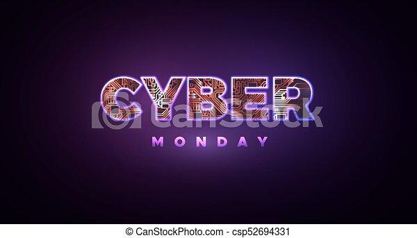 monday., vendita, cyber, promozionale, linea, evento - csp52694331