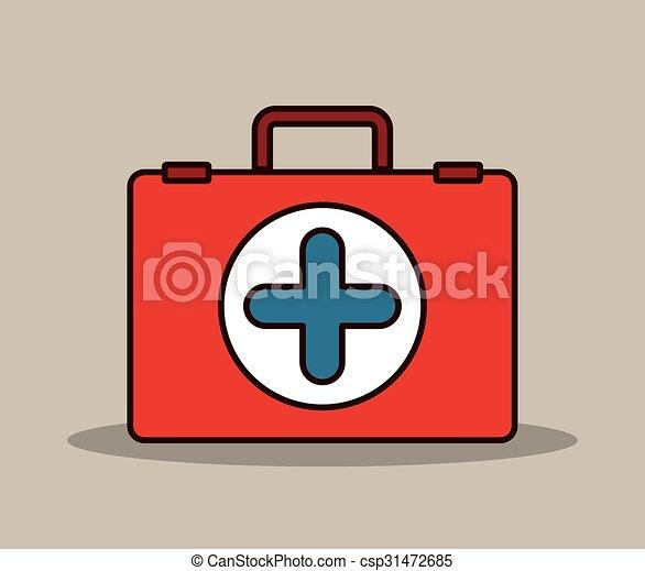 monde médical, conception, kit - csp31472685