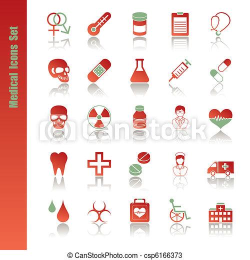 monde médical, ensemble, icônes - csp6166373