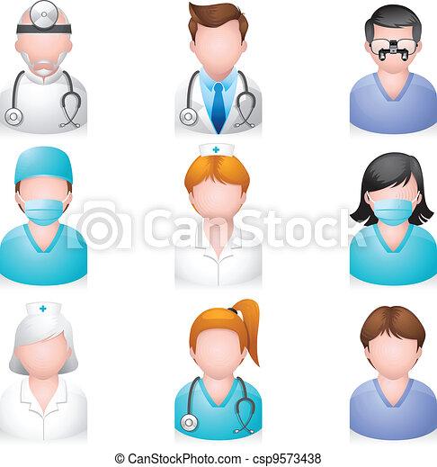 monde médical, gens, -, icônes - csp9573438