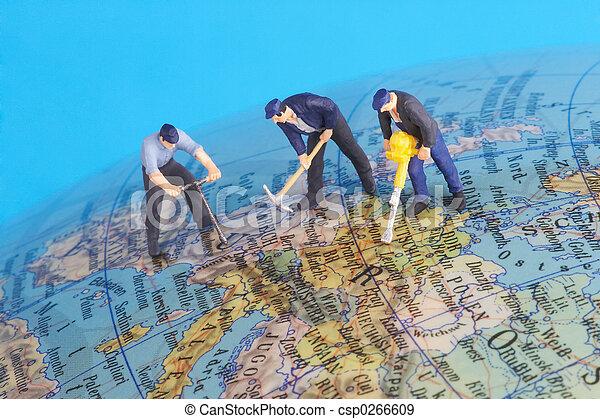mondiale, autour de, fonctionnement - csp0266609