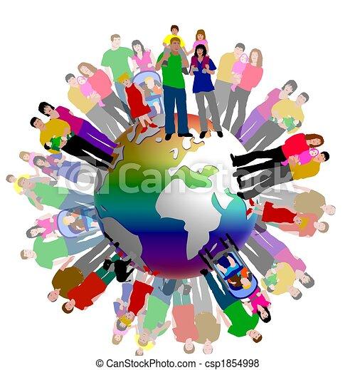 mondiale, autour de, peolpe - csp1854998