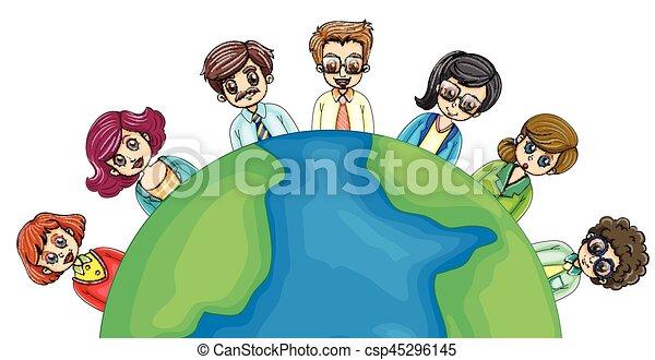 mondiale, autour de, professionnels - csp45296145