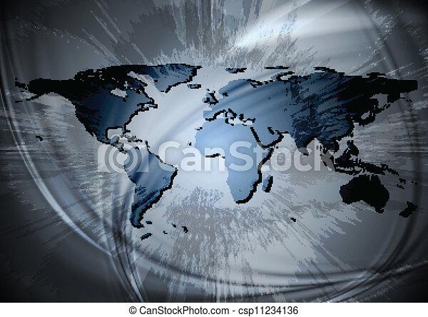 mondiale, conception, carte - csp11234136
