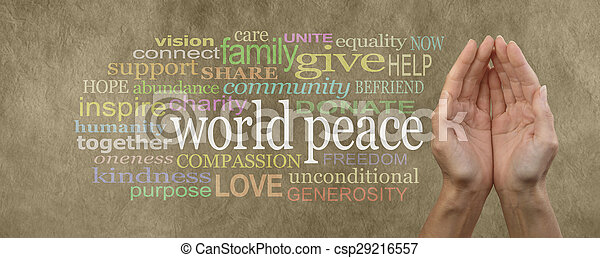 mondiale, contribuer, paix - csp29216557