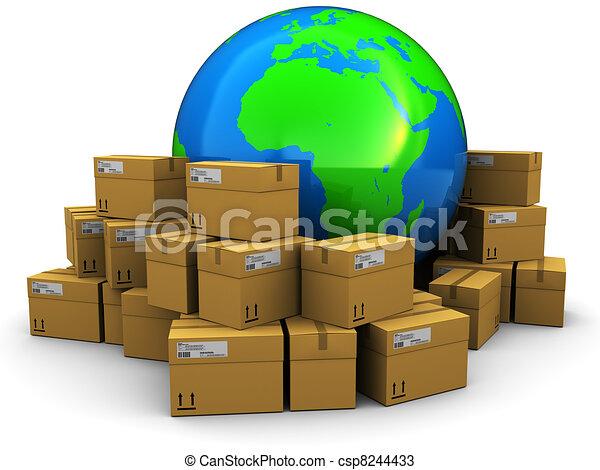 mondiale, expédition, cargaison - csp8244433