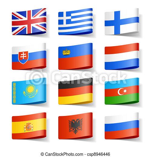 mondiale, flags., europe. - csp8946446