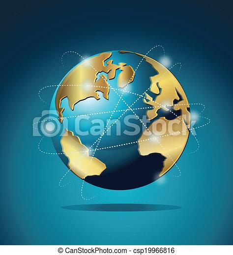 mondiale, global, commerce, communication - csp19966816