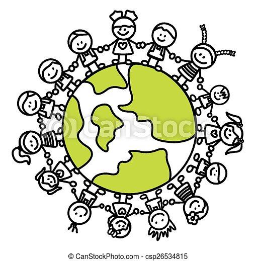 mondiale, gosses, tenant main - csp26534815