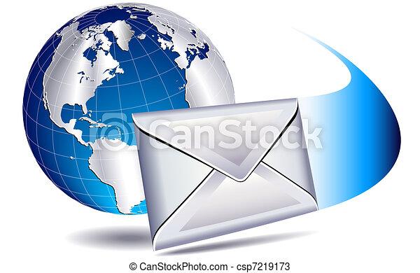 mondiale, publipostage, email - csp7219173