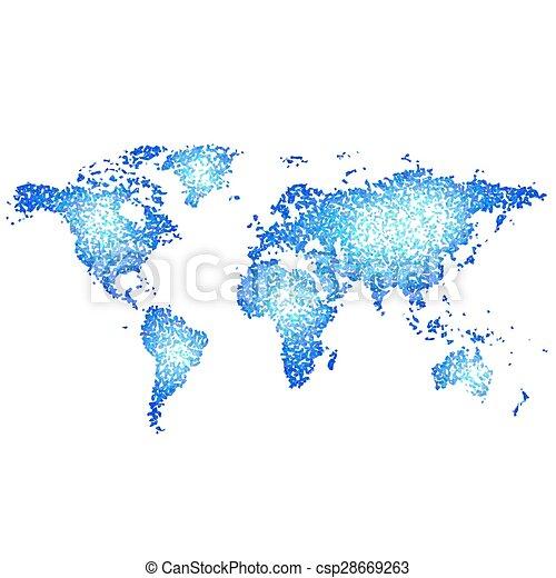 mondiale, résumé, carte - csp28669263