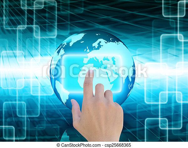 mondiale, résumé, technologie, fond - csp25668365