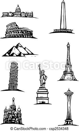 mondiale, taches, monument - csp2534348