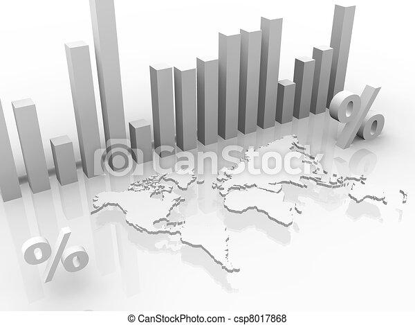 mondiale, taux, autour de, stockage - csp8017868