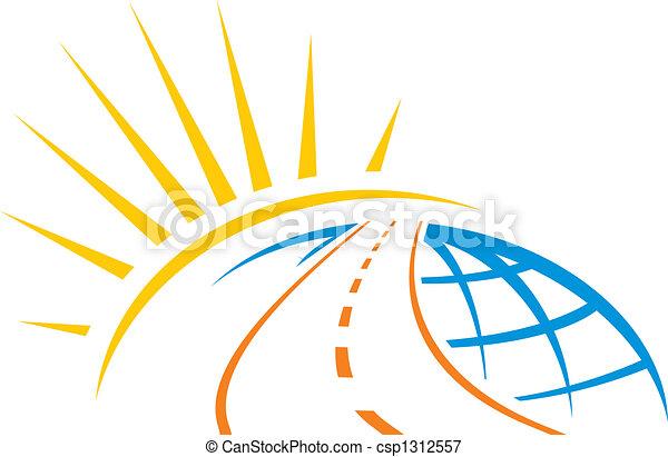 mondiale, travers, route - csp1312557