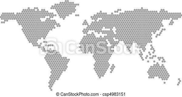 mondiale, vecteur, carte - csp4983151