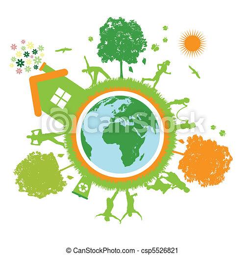 mondiale, vie, vert, planète - csp5526821