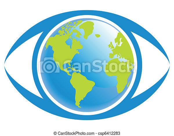 mondiale, vue., oeil - csp6412283
