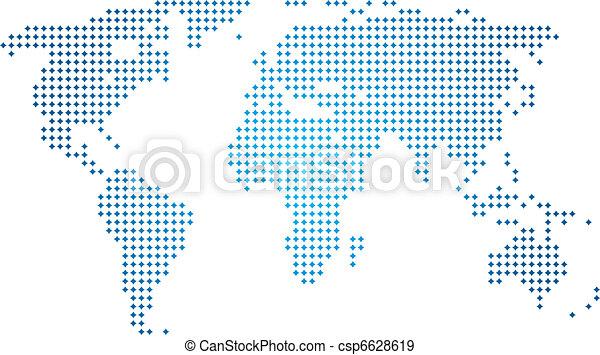 mondo, astratto, vettore, mappa - csp6628619