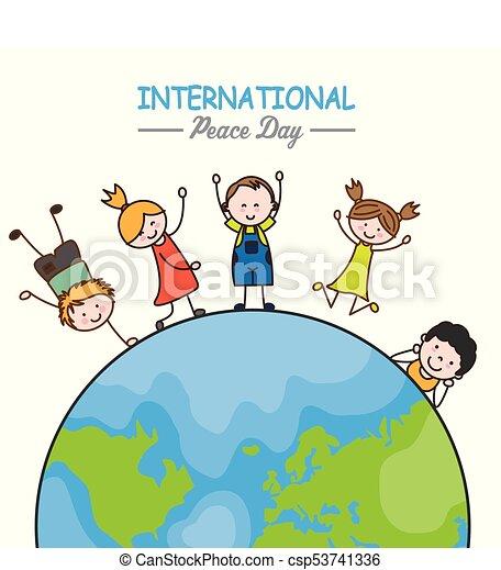 mondo, bambini, intorno - csp53741336