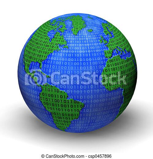 mondo, digitale - csp0457896