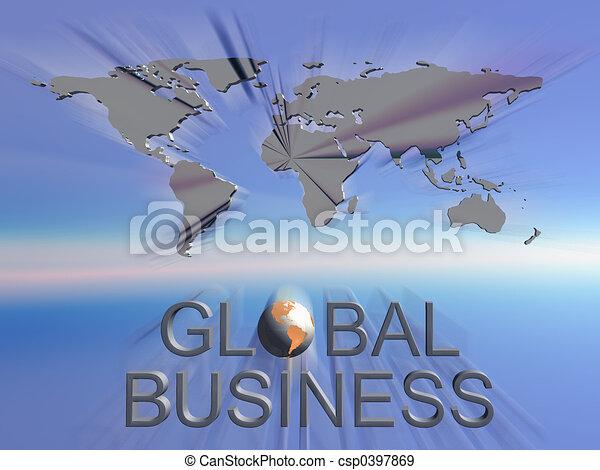 mondo, globale, mappa, affari - csp0397869